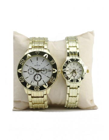 Allura Couple Watch Gold