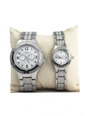 Allura Couple Watch silver